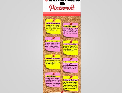 Infografía 8 Tips Pinterest
