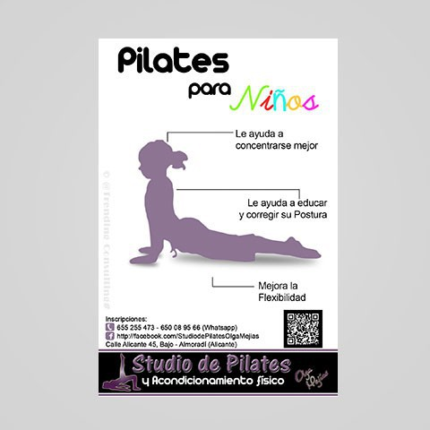Folleto Pilates para Niños