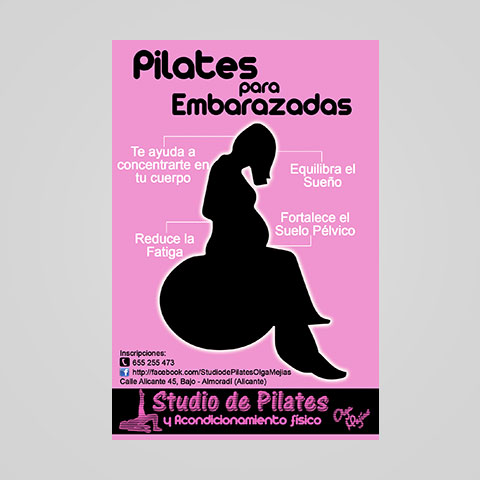 Folleto Pilates para embarazadas
