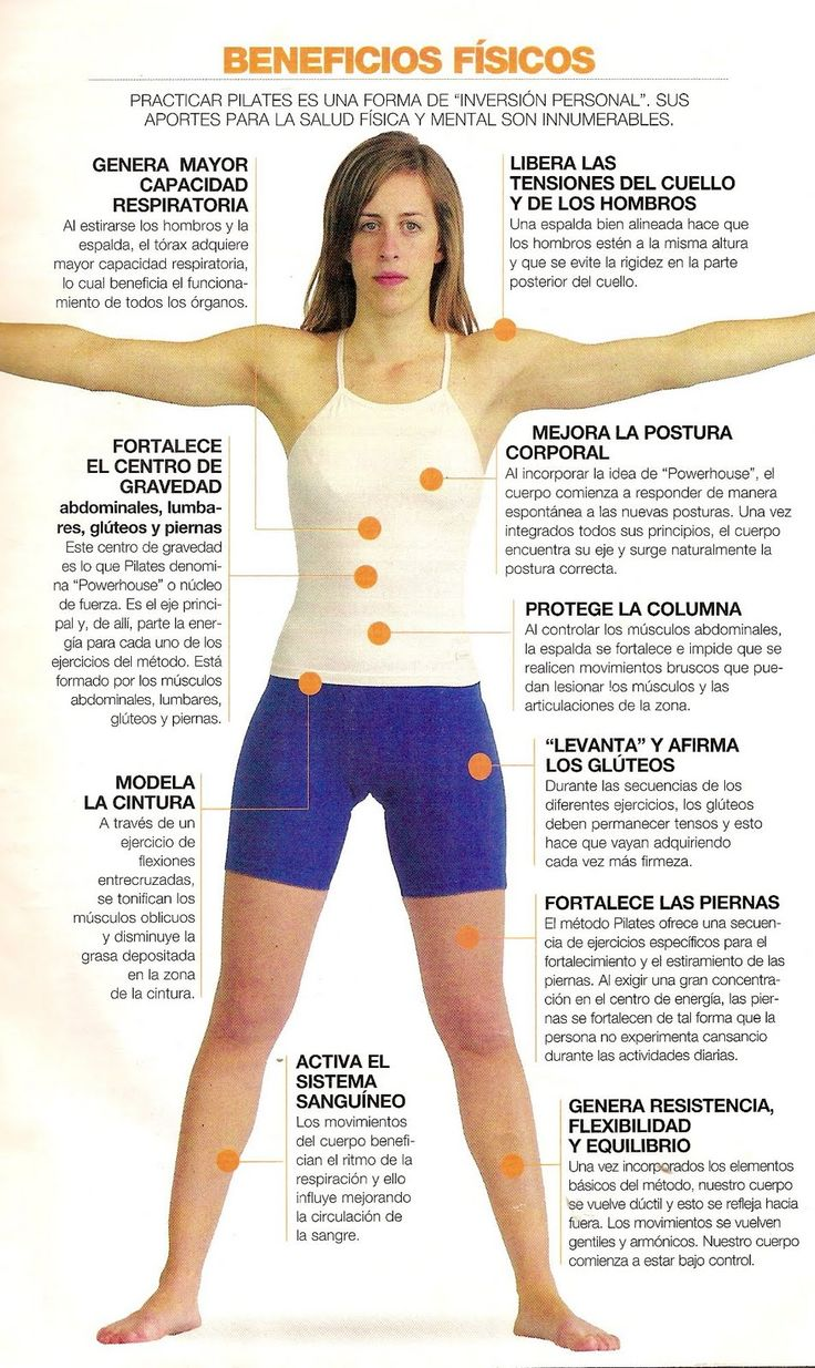 Múltiples beneficios del Pilates